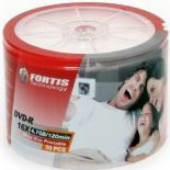 50 FORTIS Full Face White Printable Blank DVD-R 16x 4.7GB 120m discs